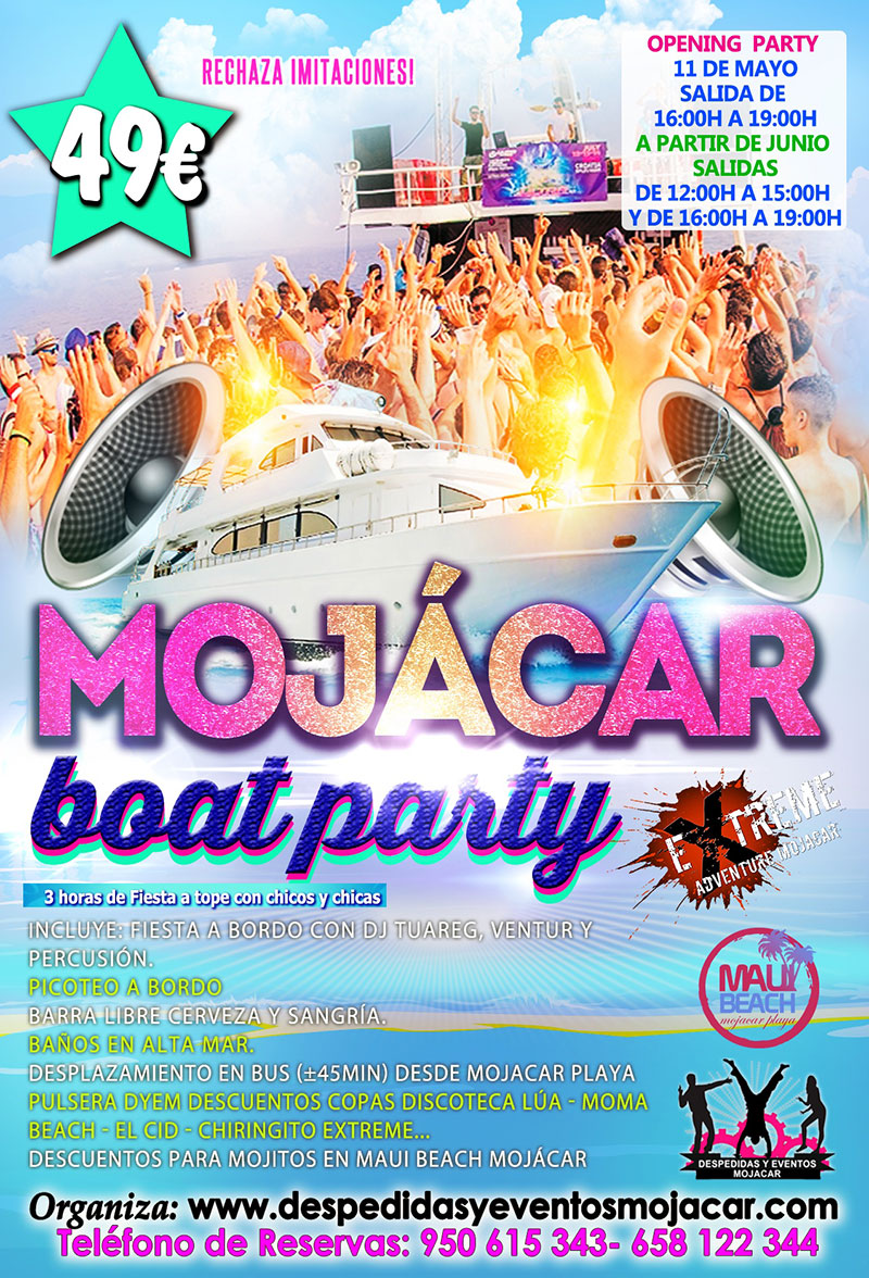 Mojacar Boat Party 2019